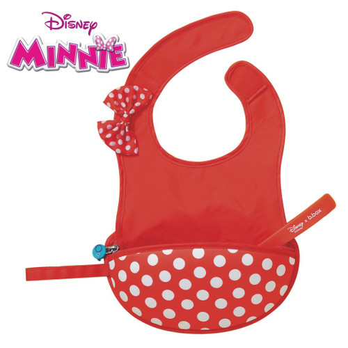 disney minnie mouse travel bib + flexible spoon