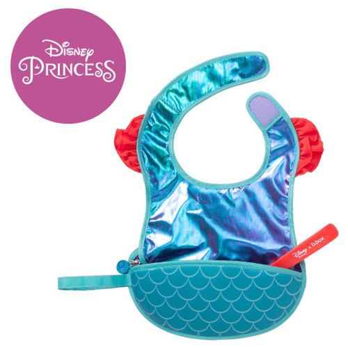 disney ariel travel bib + flexible spoon