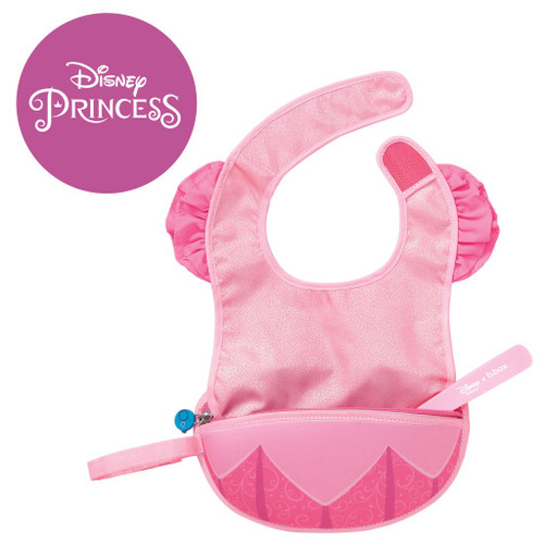 disney aurora travel bib + flexible spoon