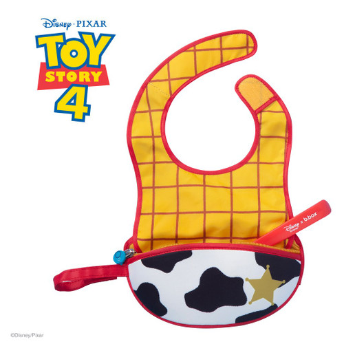 disney sheriff woody travel bib + flexible spoon