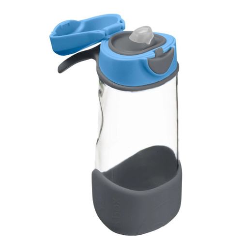 *new* sport spout bottle - blue slate