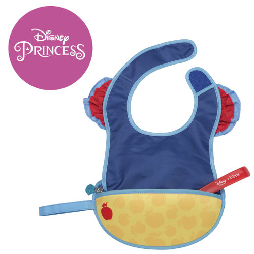 disney snow white travel bib + flexible spoon