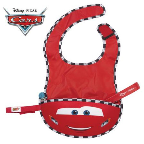Disney - Lightning McQueen travel bib + flexible spoon