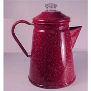 RED PERCOLATOR, 8 CUP