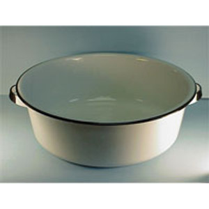 15 QT. WHITE DISH PAN