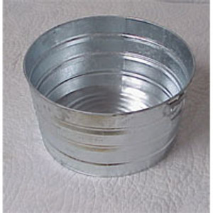 #1 ROUND GALVANIZED TUB
