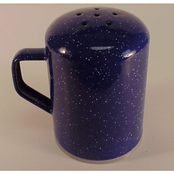 BLUE ENAMEL PEPPER SHAKER