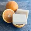 Organic Orange Peel Soap Palm-Free with fresh oranges
