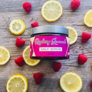 Raspberry Lemonade Salt Scrub