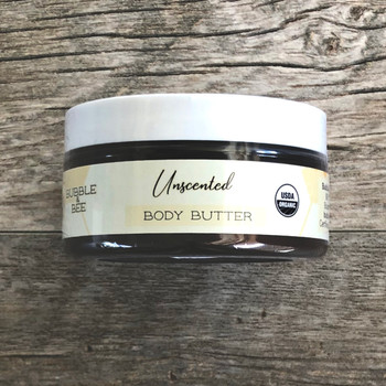 Unscented Organic Body Butter 8 oz