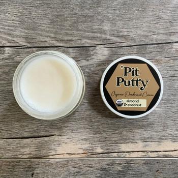 Almond Coconut Pit Putty Organic Deodorant CREAM