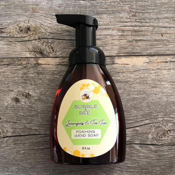 lemongrass tea tree foaming hand soap organic ingredients safe pure and natural