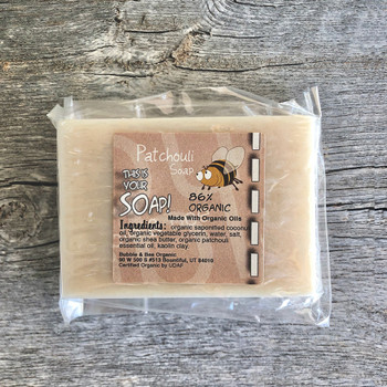 Organic (86%) Patchouli Soap
