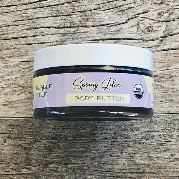 Spring Lilac Organic Body Butter 8 oz