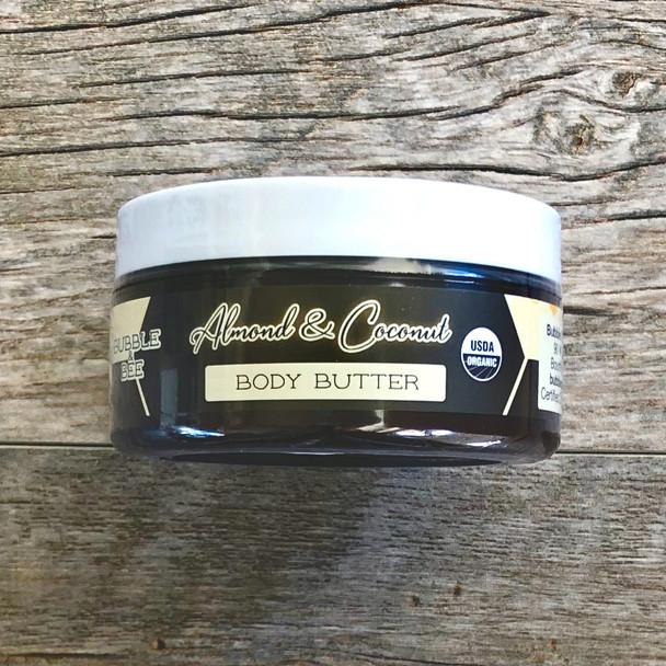 Almond & Coconut Organic Body Butter 8 oz