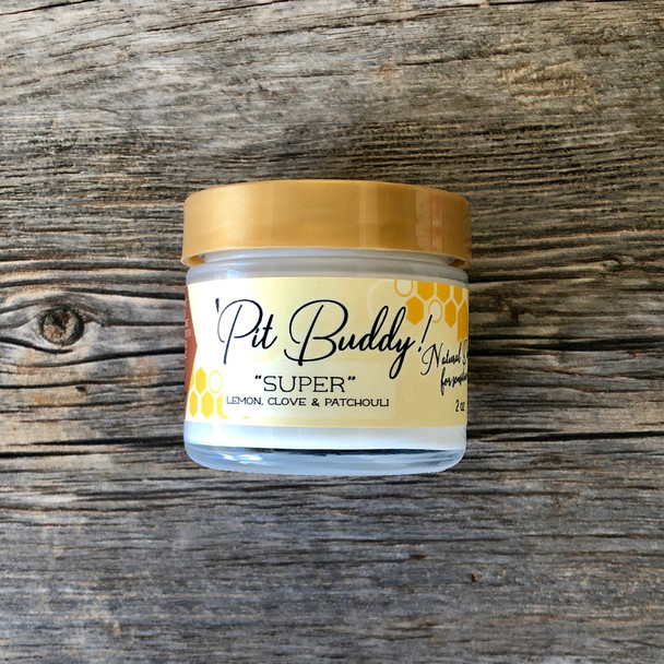 Pit BUDDY Sensitive Skin Deodorant Cream: SUPER (Lemon, Clove, Patchouli)