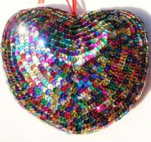Heart Sequin Multicolored SS53M