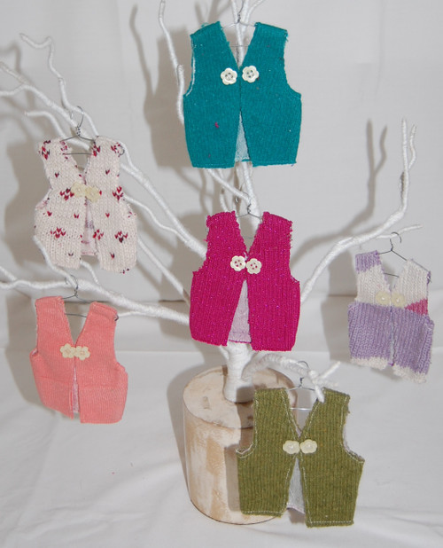 "SW03 – Recycled sweater ornaments. 3"" Assorted"