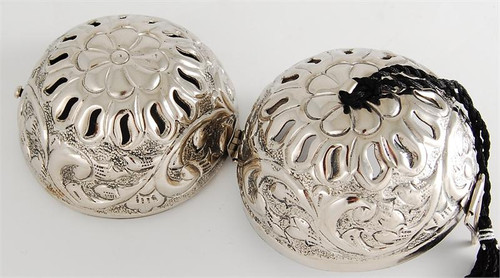Silver Friendship Ball - Embossed Floral
