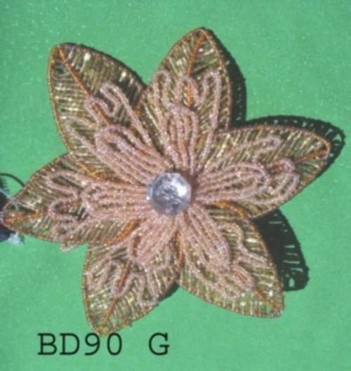 "Bead Ponsetia 8""  BD90G"