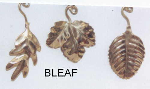 """Brass Leaf. Assorted. Priced each piece..Color: Gold. ..Size: 1x1.5""""..Mater"""