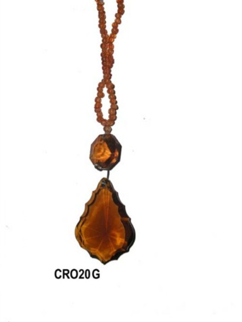 French cut Crystal.  with Bead gold  CR020G