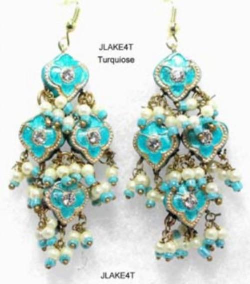 Lak Earring Medium Turquoise JLAKE4T