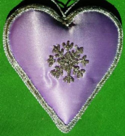 Heart Satin Lavendar CH1274HL