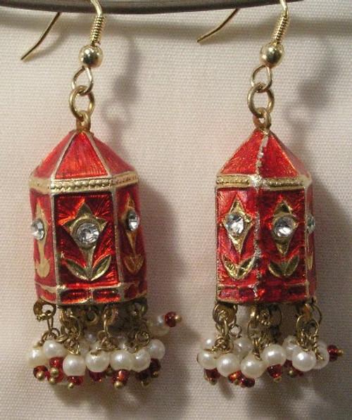 Temple Earrings Red gold Lak JL09R