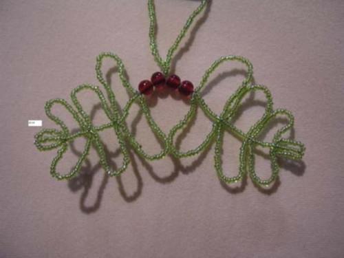 Oak Leaf Seed Green and red BD99