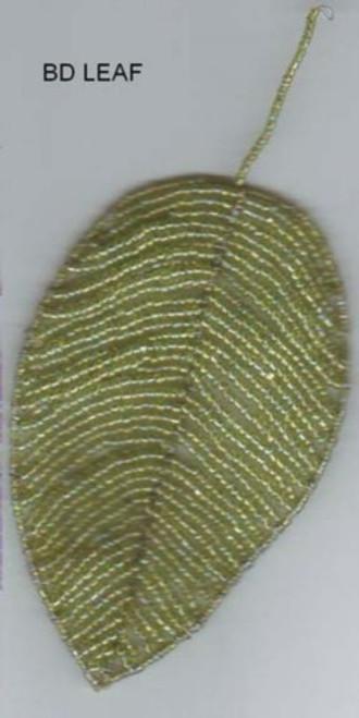 Leaf seed beads Light green BDleaf