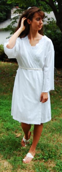 Organic White Cotton Robe