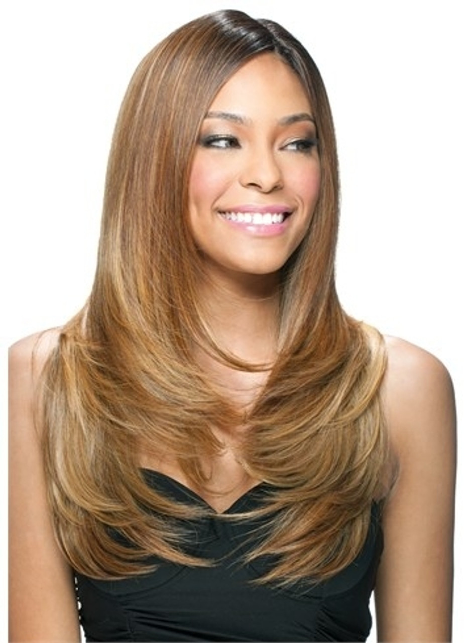 Model Model Pose Synthetic Weave Hair Perfect Layer Long 4pcs