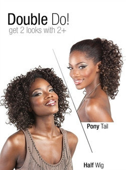 Isis Collection Premium Synthetic Half Wig + Pony Tail TP 27