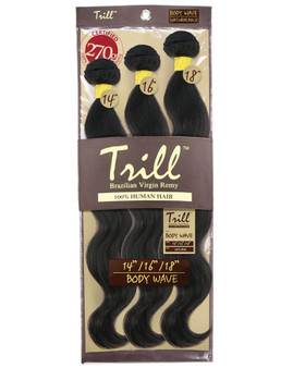 Mane Concept TRILL 100% Unprocessed Virgin Human Hair BRAZILIAN BODY WAVE 3 PCS (20/22/24) - TRW301