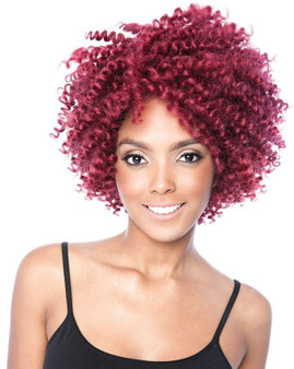 Mane Concept Black Ivy Berry Curl Crochet Lace Wig 3B Springy Red WIg