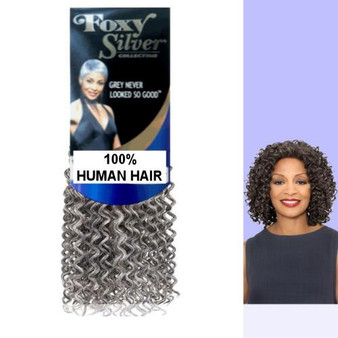 """Foxy Silver HH Jerry 100% Human Hair Weave - 10 """""""