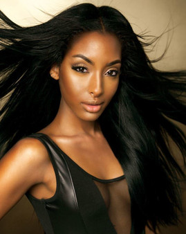 Mane Concept 100% Human Hair Melanin Queen Weaving Yaky Straight 12