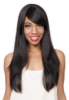 Fashion Source Reve Human Hair Wig HH Swan Black