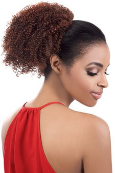 Beshe Curlable Drawsting Ponytail Side