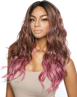 Red Carpet Synthetic Lace Front Wig Vivian Brown pink