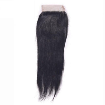"Brazilian 100% Virgin Straight Closure - 16 "" (1 pc )"