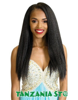 Rastafri Mahogany Tanzania Straight Synthetic Clip In Extensions 18 inch