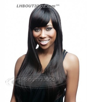 Isis Collection Premium Synthetic 3/4 Wig + Bang + Pony Tail