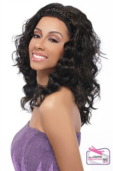 Harlem 125 Synthetic Futura Braided Lace Front Wig  LD 706 Side