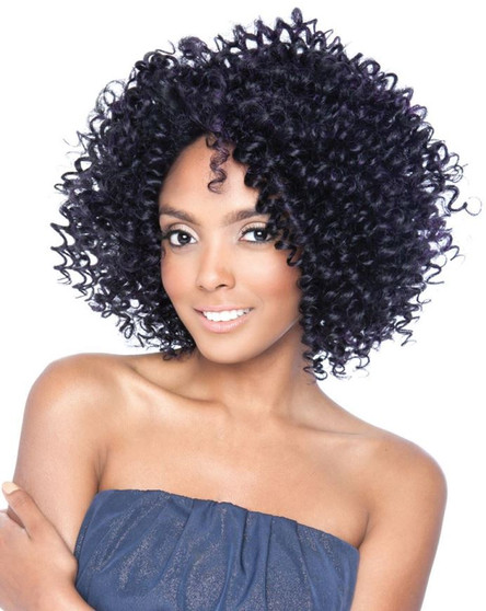 Mane Concept Black Ivy Berry Curl Crochet Lace Wig 3A Twirly
