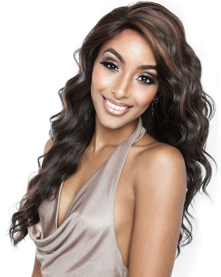 Mane Concept Brown Sugar 100% Human Hair Mix Whole Lace Wig BS 405 front