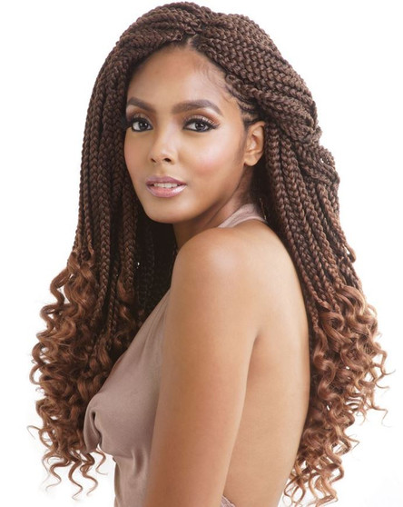 Mane Concept Pre Looped Crochet Box Braids Curly Ends