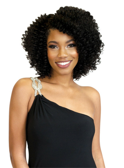 Rastafri Mahogany Angola Curl Synthetic Clip In Hair Extensions 8 inch