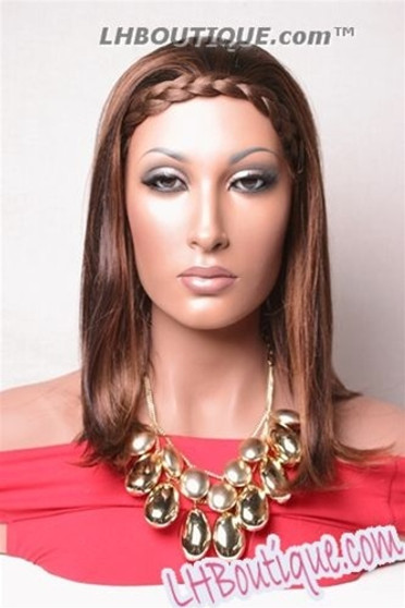 Champagne Urban Full Cap Synthetic Hair Wig - Boston